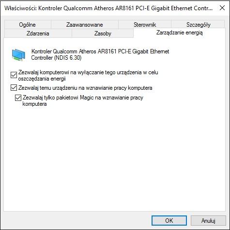 Zarządzanie energią - Windows