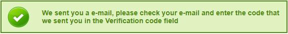 Komunikat o wysłaniu kodu weryfikacyjnego