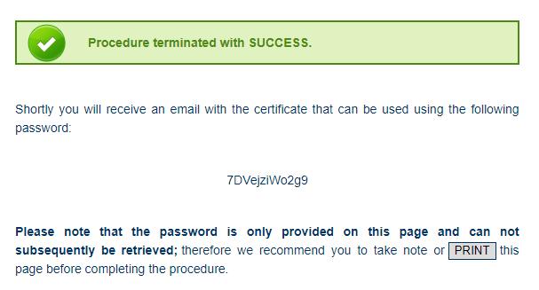 Hasło do certyfikatu